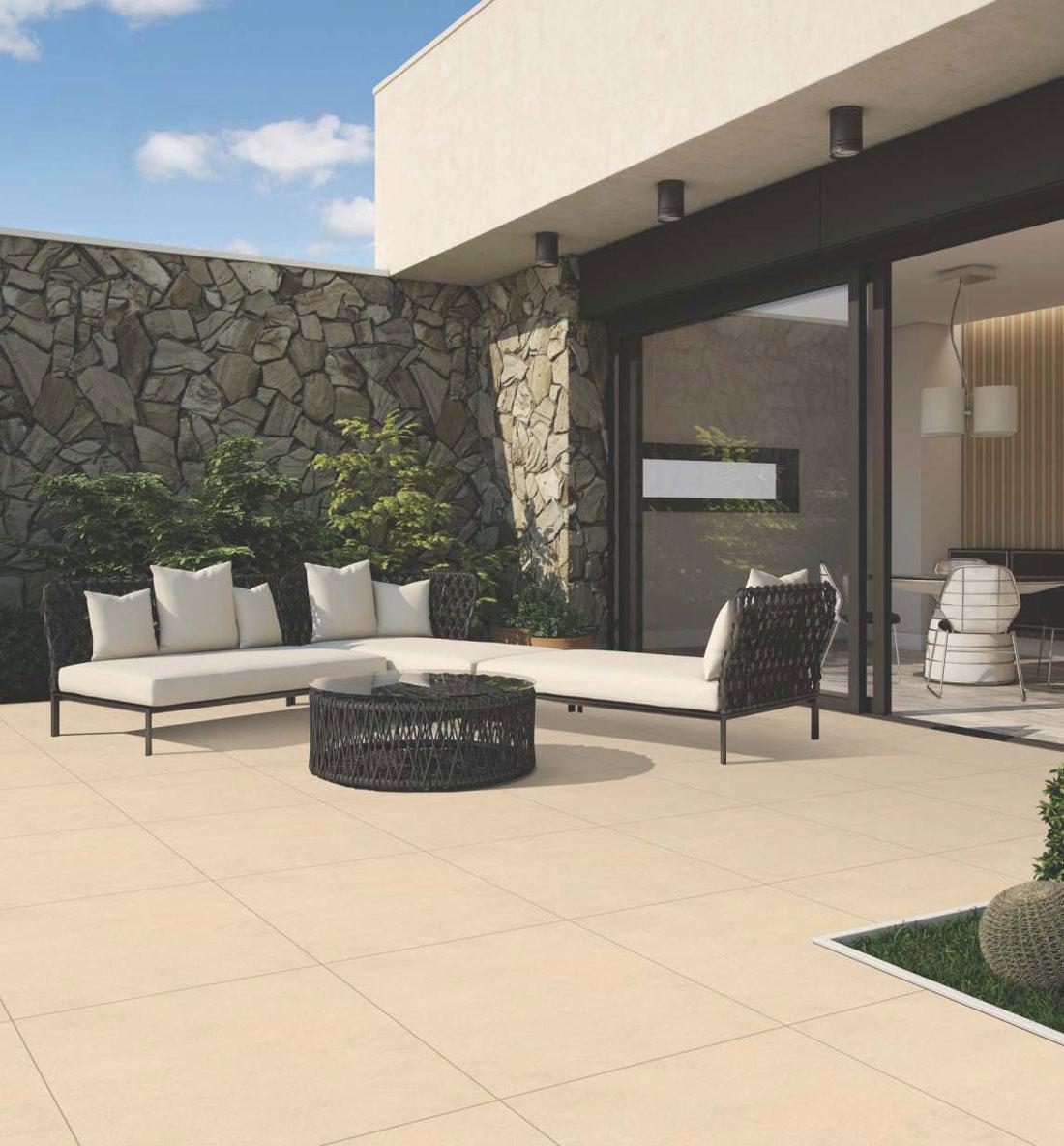 Outdoor porcelain tile | Porcelain garden tiles