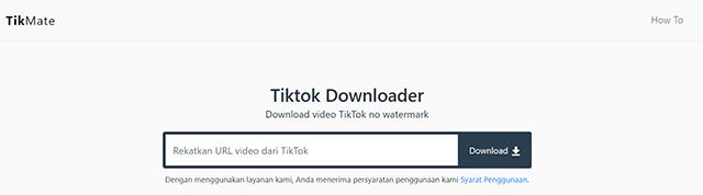 Cara Download Video TikTok Tanpa Aplikasi Secara Online TikMate