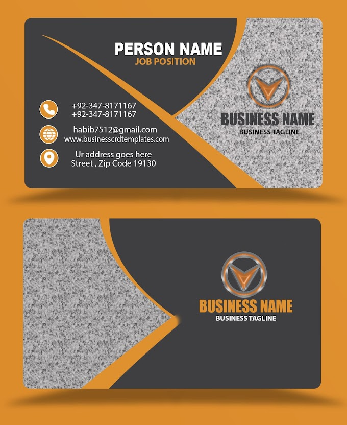 black business card template eps psd formats free download