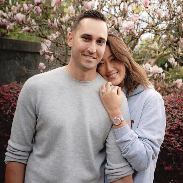 Michelle Wie with fiance Jonnie West