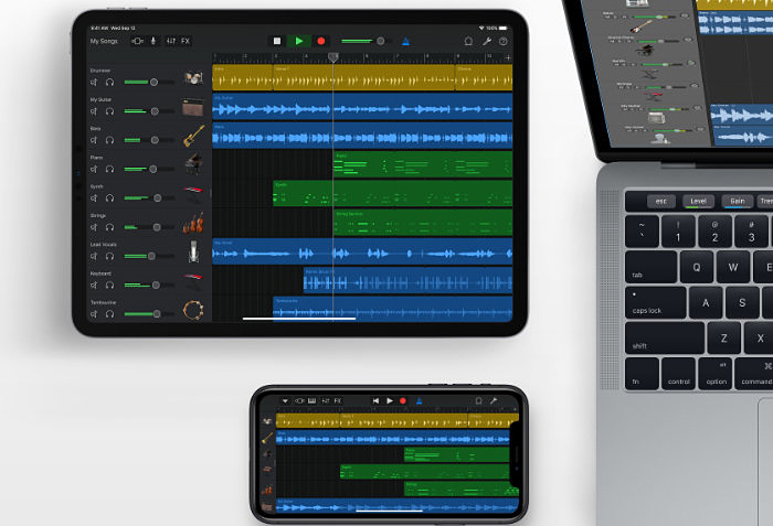 home into music with GarageBand