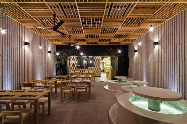 Thiết kế nhà hàng kiểu bình dân nhưng vẫn không kém phần sang trọng
