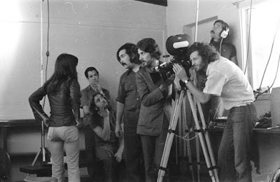 Fotografía del rodaje de Diálogos de exiliados (1975)