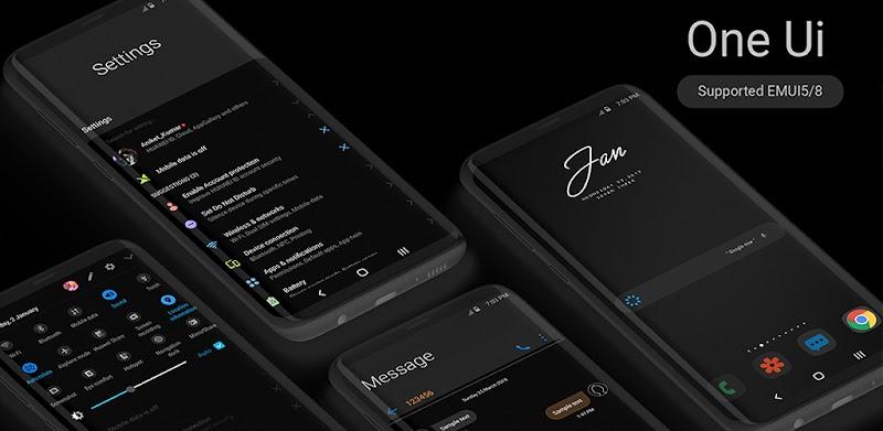 Samsung One-Ui Dark EMUI 5/8 THEME v2.3.1