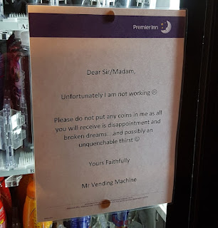 A message from Mr Vending Machine