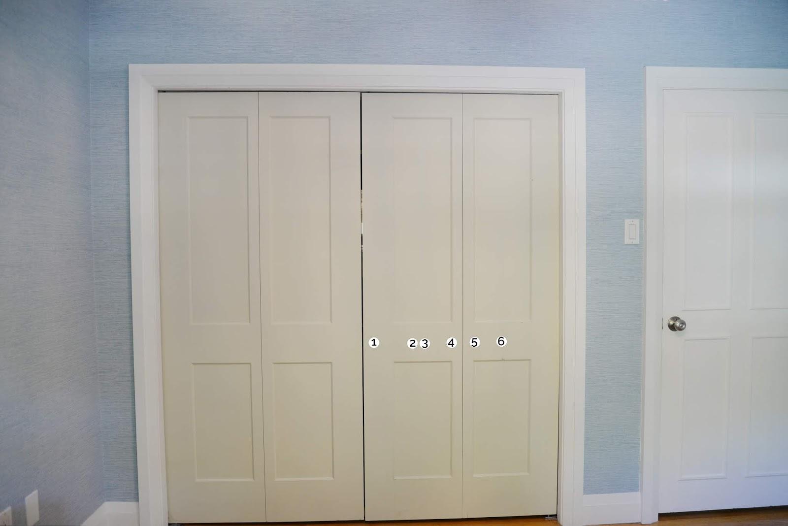where to put knobs on bifold door, bifold door knob, bifold door knob placement