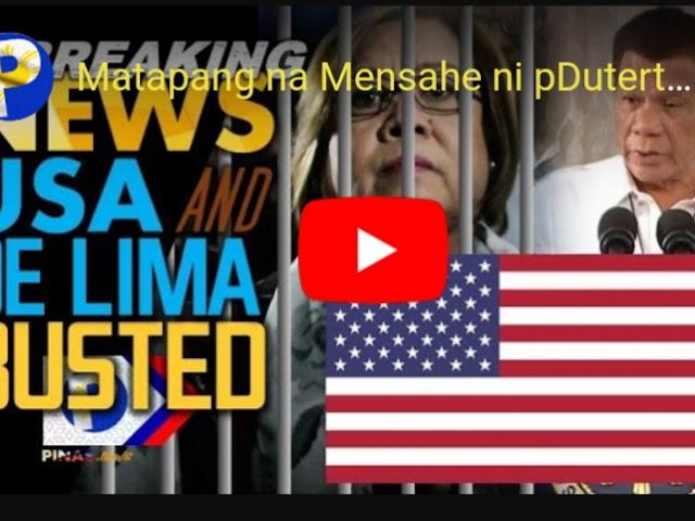 WATCH: Duterte may Matapang na Mensahe sa US Senators at De Lima