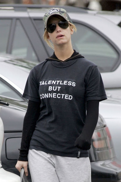 'Talentless But Connected' as worn by Jessica Simpson.  PYGOD.COM