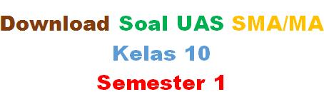 Download Soal UAS Geografi Kelas 10 SMA Semester 1