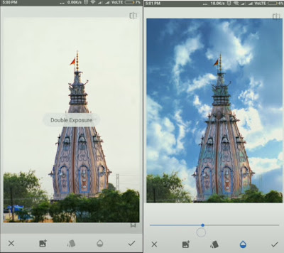 Add cloud in a photo using snapseed