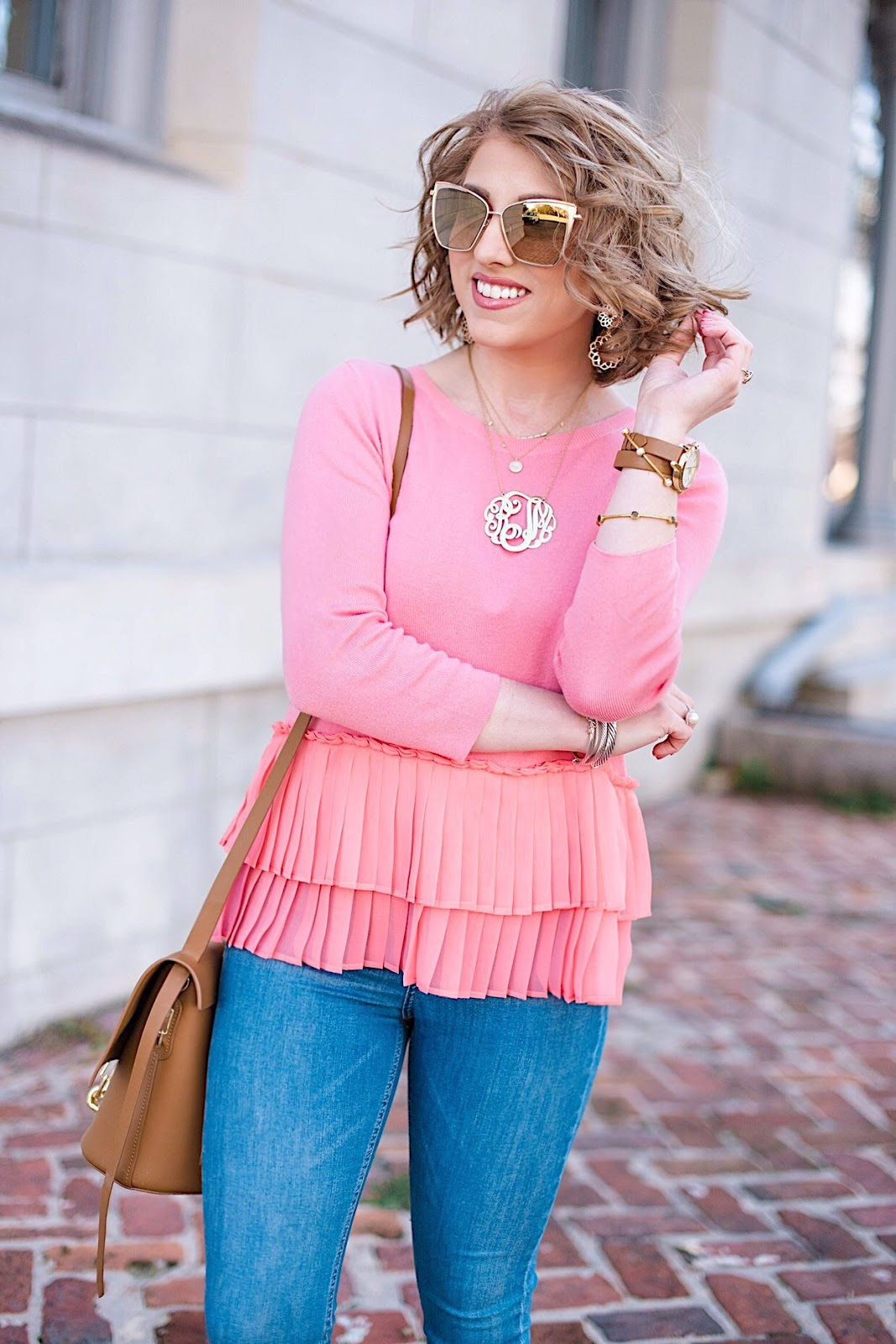 Transition to spring - Ruffle Hem Sweater - Click through for more on Something Delightful Blog