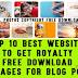 Top 10 Best websites to Get Royalty Free Download Images for blog posts
