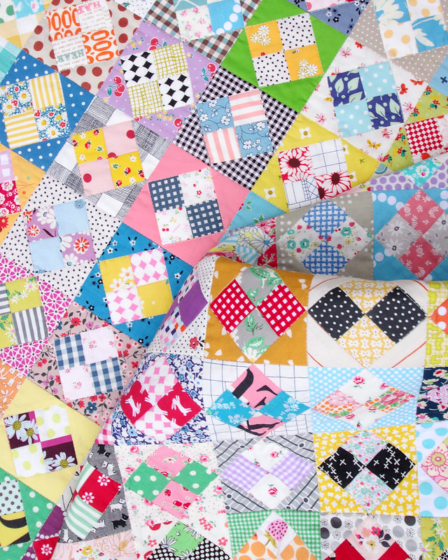 A Four-Patch in a Square Quilt  © Red Pepper Quilts 2021