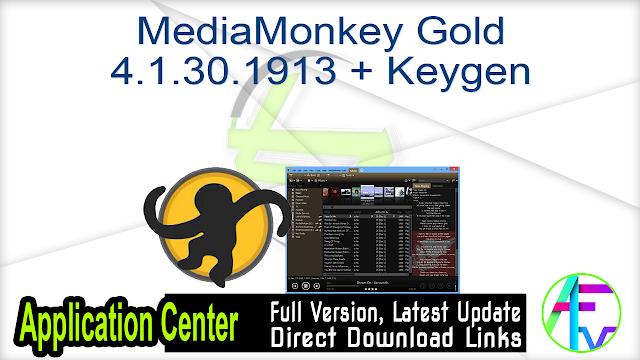 MediaMonkey Gold 4.1.30.1913 + Keygen