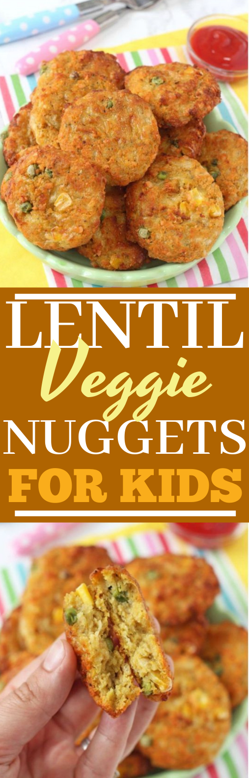 Lentil Veggie Nuggets #vegan #veggies