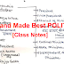 Hand Made Indian Polity PDF Class Notes Download with Explanation in Hindi & English