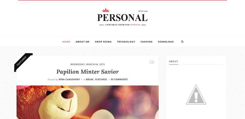 Personal Free Blogger Template
