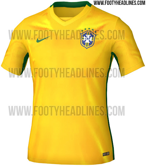 official photos 249eb 67f87 ... for Brazils friendlies against Costa Rica on September 5 and USA on  September 8, and will be not able to wear the classy Brazil 2015-2016 Home  Jersey.