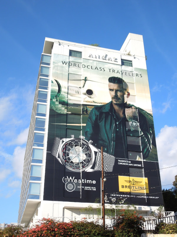 David Beckham Breitling watch billboard