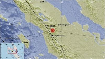 Gempa di sumatera utara
