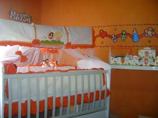 decorar cuarto bebé naranja