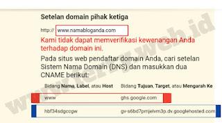 Memasang Domain