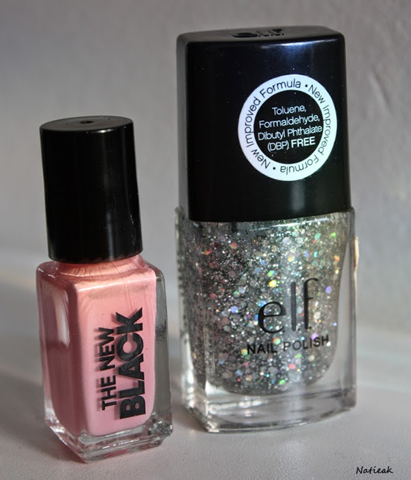 vernis à ongles E L F Dream Maker et  rose pâle  du kit The new black