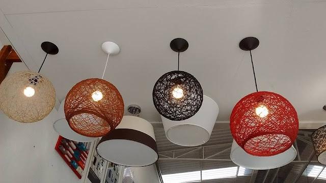 Luminária Artesanal de Barbante