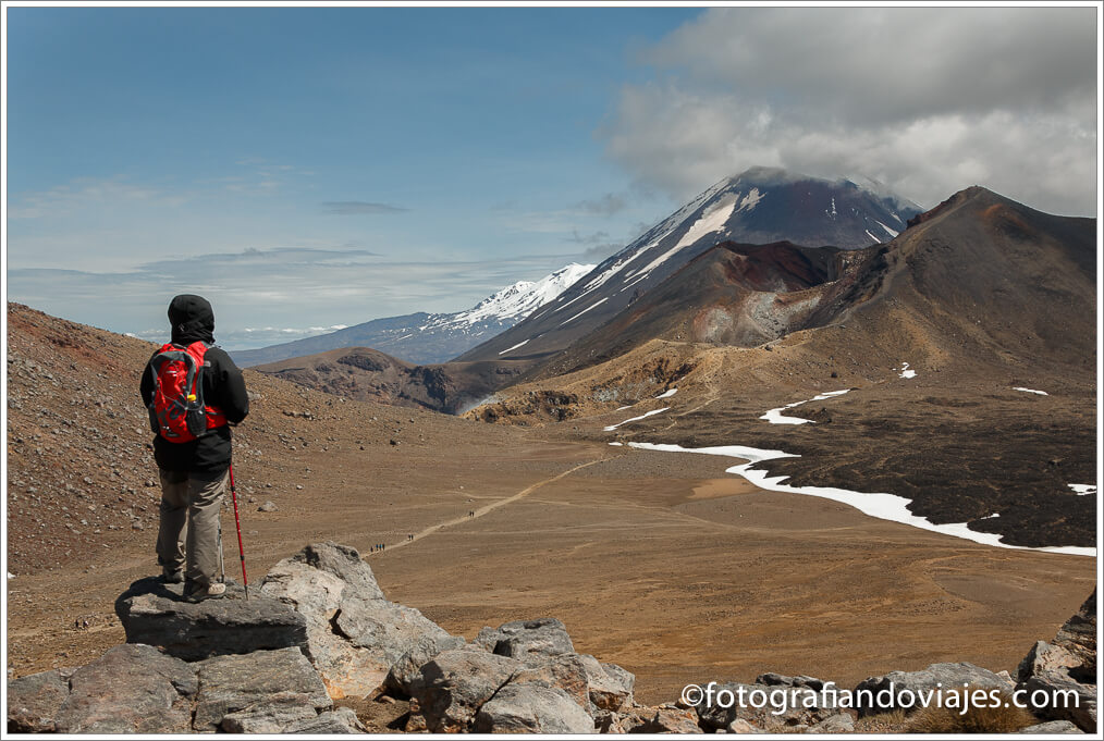 Tongariro desde Blue  en Tongariro Alpine Crossing