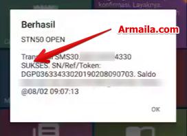 Pengisian Paket 1500 SMS All Operator Telkomsel sukses