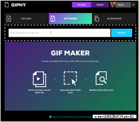 now creating Gif images are so easy with Giphy's Gif maker