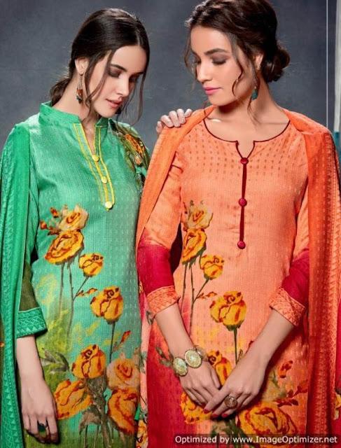 Radhika Sumyra Floral Pashmina Winter Suits Wholesale