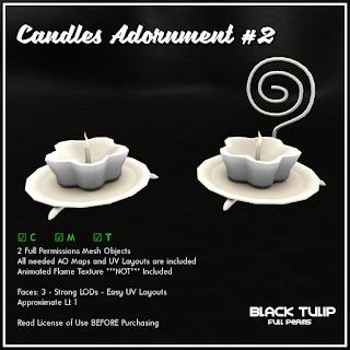 [Black Tulip] Mesh - Candles Adornment #2