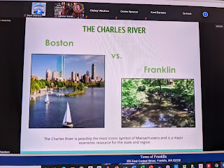 one slide of the presentation deck, and yes, the Charles begins here in Frankli