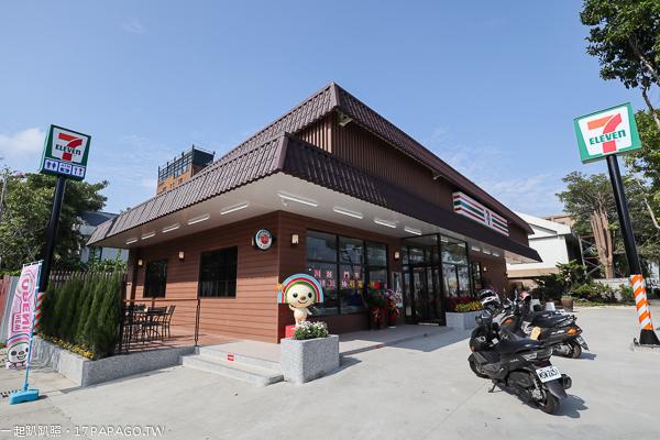 《台中.北屯》7-11川越門市|北屯特色超商|日本風江戶小木屋建築|穿越古今的小7