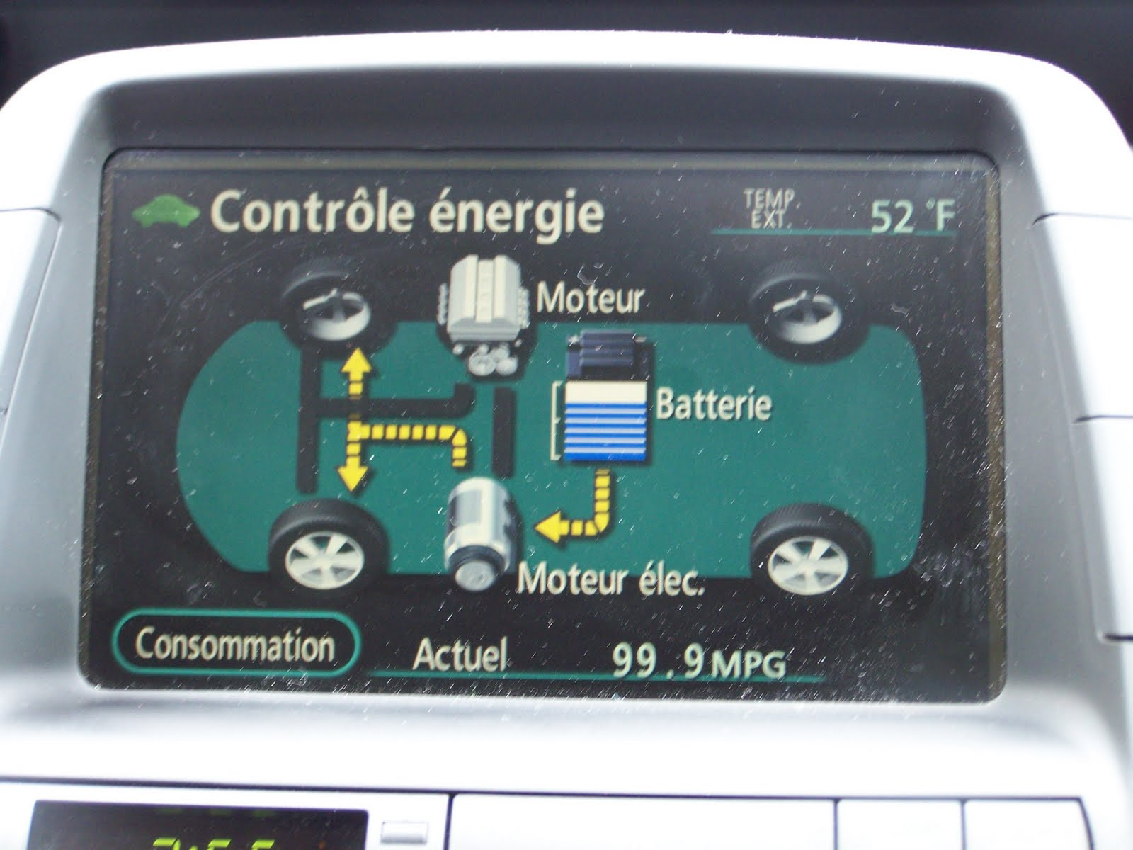The Car Is Now Going Along In Ev Mode With No Gas Use Ahh Silence