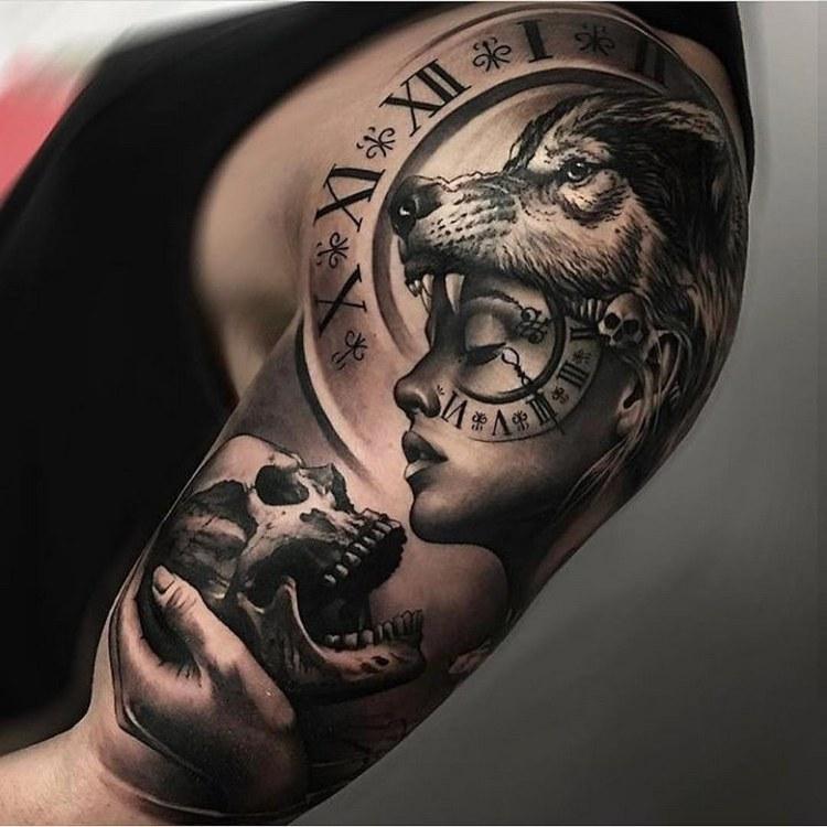 Tattoo ideas, tattoo wolf geometric, wolf tattoo meaning, wolf tattoo tumblr, tattoo wolf design, wolf tattoo arm, wolf tattoo old school, wolf tattoo thiers, bear tattoo