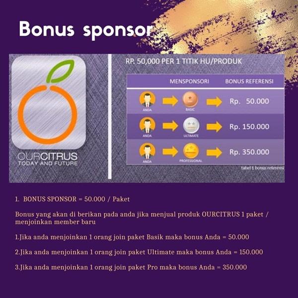 Bonus Sponsor Ourcitrus