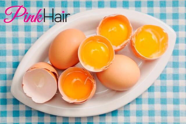 البيض لتنعيم الشعر