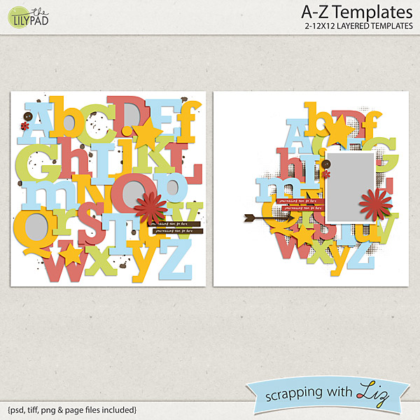 http://the-lilypad.com/store/A-through-Z-Digital-Scrapbook-Templates.html