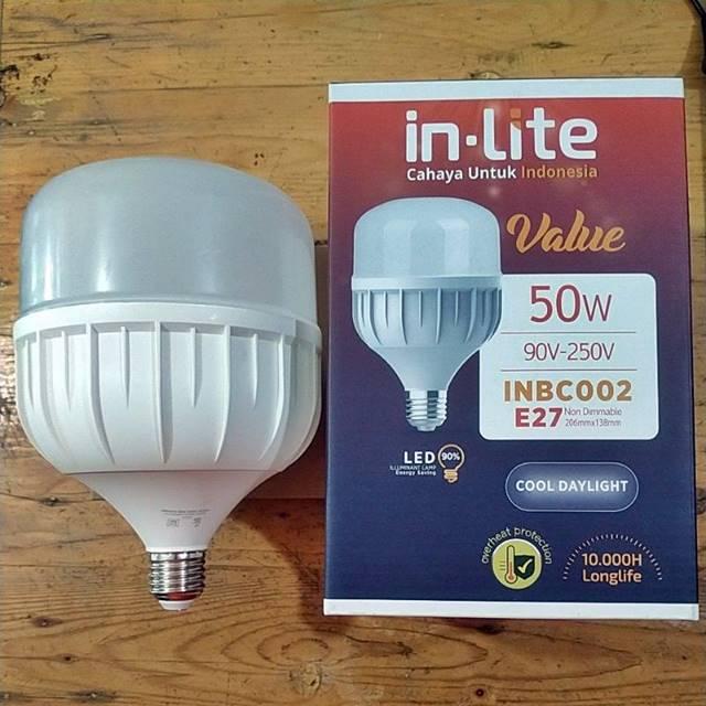Lampu LED In Lite Value 50 Watt CooldayLight INBC002