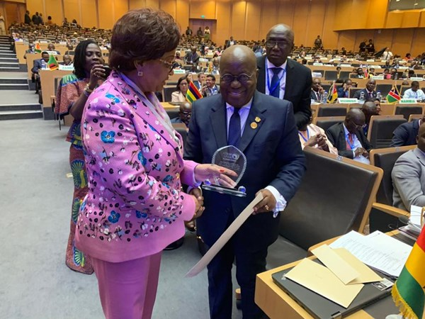 """President Akufo-Addo Named """"Champion Of The African Union Financial Institutions"""