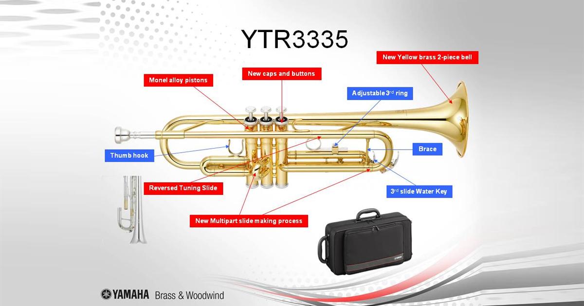 Tổng quan về Kèn Trumpet Yamaha Bb YTR 3335