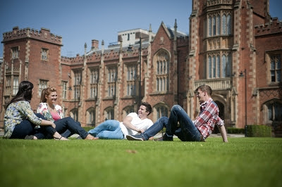 Belfast Ireland University College Student Lawn