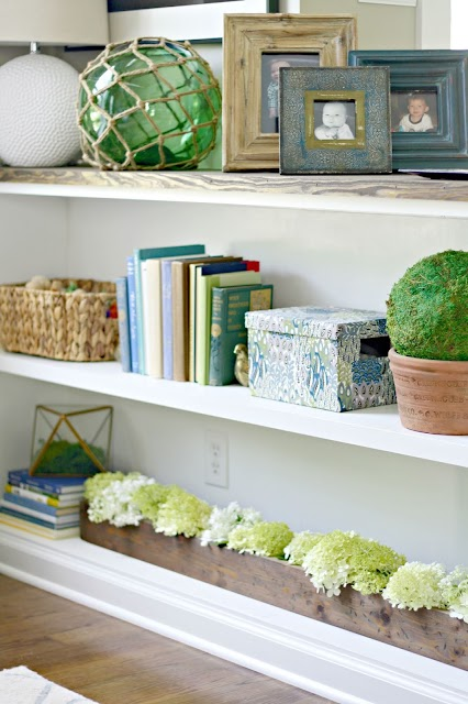 Half wall turned bookcase