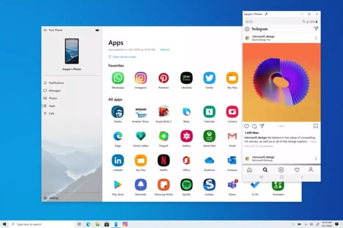 Microsoft integrates Android apps into Windows 10 with Your Phone