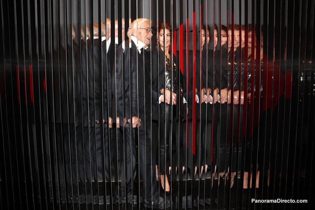 Juliana Awada visitó en el CCK la muestra más grande que se le haya dedicado al artista Julio Le Parc