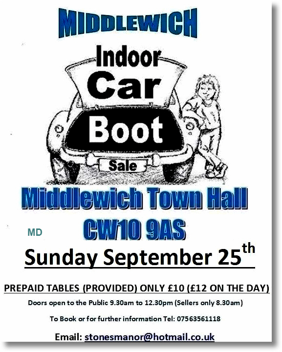 Car Boot Sales In Northwich Area