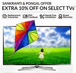Snakranti & Pongal Offer: Upto 34% Off+ Extra 10% Off on LED TV@ Flipkart