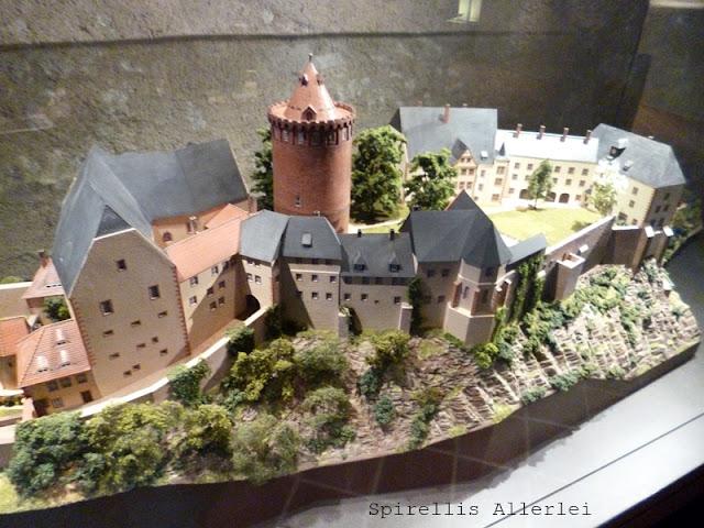 Das Modell der Burg Mildenstein